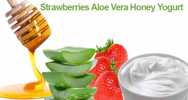 Strawberries Aloe Vera Honey Yogurt