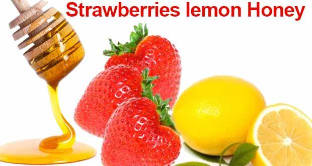 Strawberries lemon Honey