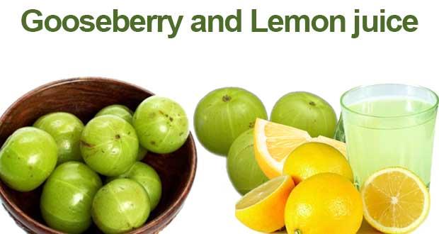 Gooseberry and Lemon juice
