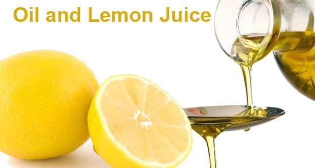 Oil and Lemon Juice